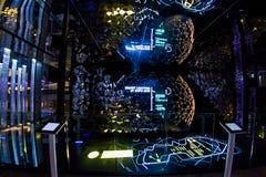 Milaan, Italië - Oktober twintigste, 2015: Nieuwe die verlichtingstechnologie door computer wordt gecontroleerd Royalty-vrije Stock Afbeeldingen