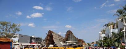 Milaan, Italië - 8 September, 2015 EXPO MILAAN Detail van China Royalty-vrije Stock Foto's