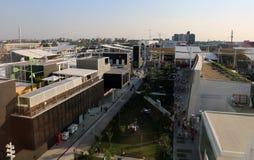 Milaan, Italië - 8 September, 2015 Expo Milaan 2015 pavilions stock fotografie