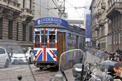 Milaan, Italië - Stadstram Stock Foto