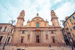 Milaan, Itali? - 14 08 2018: kathedraal in Milaan, katholieke godsdienst stock foto