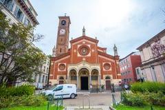 Milaan, Itali? - 14 08 2018: kathedraal in Milaan, katholieke godsdienst royalty-vrije stock foto's