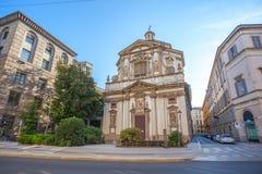 Milaan, Itali? - 14 08 2018: kathedraal in Milaan, katholieke godsdienst royalty-vrije stock afbeelding