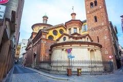 Milaan, Itali? - 14 08 2018: kathedraal in Milaan, katholieke godsdienst royalty-vrije stock fotografie