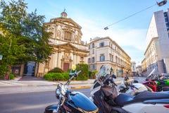Milaan, Itali? - 14 08 2018: kathedraal in Milaan, katholieke godsdienst royalty-vrije stock afbeeldingen