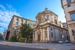 Milaan, Itali? - 14 08 2018: kathedraal in Milaan, katholieke godsdienst royalty-vrije stock foto