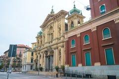 Milaan, Itali? - 14 08 2018: kathedraal in Milaan, katholieke godsdienst stock fotografie