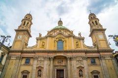 Milaan, Itali? - 14 08 2018: kathedraal in Milaan, katholieke godsdienst stock foto's
