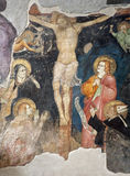 Milaan - kruisigingsfresko van de kerk van San Marco royalty-vrije stock fotografie