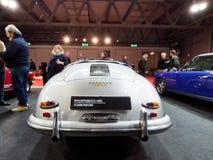 Milaan, Lombardije Italië - 23 November, 2018 - Klassiek Porsche 356 Snelheidsmaniak van de achtermening van 1958 in de uitgave v stock foto's