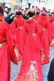 Milaan, Milaan, Chinese nieuwe year'eve Royalty-vrije Stock Afbeeldingen