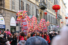 Milaan, Milaan, Chinese nieuwe year'eve Royalty-vrije Stock Afbeelding