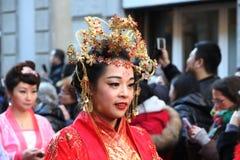 Milaan, Milaan, Chinese nieuwe year'eve Royalty-vrije Stock Foto