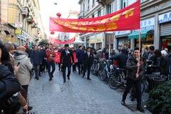 Milaan, Milaan, Chinese nieuwe year'eve Stock Foto's