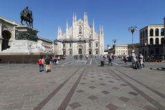 Milaan, Milaan de duomokathedraal Royalty-vrije Stock Afbeelding