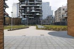 Milaan, Milaan, de nieuwe stadshorizon Stock Afbeelding