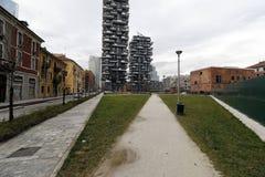 Milaan, Milaan, de nieuwe stadshorizon Stock Afbeeldingen