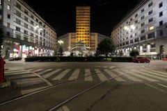 Milaan, Milaan, martini-terrasmening Stock Fotografie