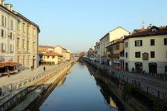Milaan, Milaan, Naviglio Grande Stock Foto's