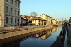 Milaan, Milaan, Naviglio Grande Stock Afbeelding