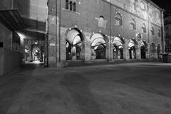Milaan, Milaan, ragione van palazzodella en het oude marktvierkant Stock Afbeelding