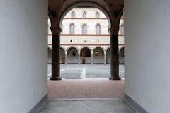 Milaan, Milaan, stroghold binnen het kasteel Stock Foto