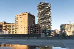 Milaan, moderne gebouwen Stock Foto's