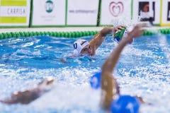 MILAAN, 11 OKTOBER: (Bpm-Sportbeheer) Giacomo Bini die bal schieten Royalty-vrije Stock Afbeelding