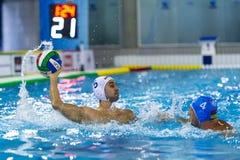 MILAAN, 11 OKTOBER: D Filipovic die (Bpm-Sportbeheer) de bal in de Sportbeheer van spelbpm Acqua schieten Chiara - Milaan Royalty-vrije Stock Foto's