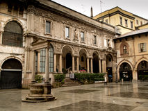 Milaan, Piazza Mercanti stock foto