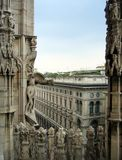 Milaan vanaf de bovenkant royalty-vrije stock afbeelding