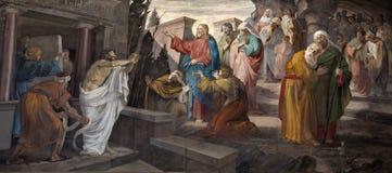 Milaan - verrijzenis van Lazarus royalty-vrije stock foto