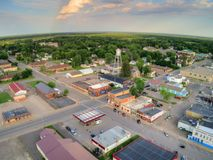 Milaca è una piccola città d'agricoltura rurale nel Minnesota immagini stock