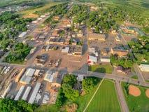 Milaca è una piccola città d'agricoltura rurale nel Minnesota immagine stock