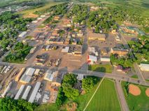 Milaca jest Małym Wiejskim Uprawia ziemię miasteczkiem w Minnestoa obraz stock