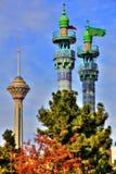 Milad塔和尖塔 库存图片