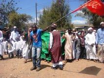 Milad un Nabbi celebration. Muslims perform a procession to mark Milad un Nabbi celebrations in Africa Nairobi Kenya to mark the birth day anniversary of Prophet Stock Photography