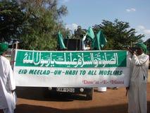 Milad un Nabbi of Prophet Muhamad (p.b.u.h) celebration. Muslims perform a procession to mark Milad un Nabbi celebrations in Africa Nairobi Kenya to mark the Stock Image