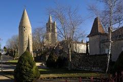 Milagre do DES da torre e do Notre Dame, Avignonet-Lauragais, Midi Pyren Imagens de Stock