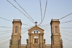 Milagres在17世纪修造的我们的奇迹的夫人教会或教会看法  免版税库存图片