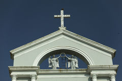 Milagres Church close up from outside. Mangalore, Karnataka, India. Royalty Free Stock Photo