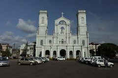 Milagres Church view from outside. Mangalore, Karnataka, India. Royalty Free Stock Image