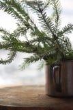Milagro del Año Nuevo del árbol de navidad que espera para Imagen de archivo libre de regalías