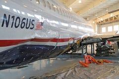 Milagro en el Hudson, vuelo 1549, en Charlotte Foto de archivo libre de regalías