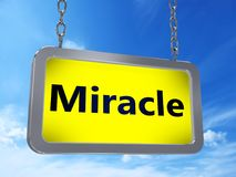 Milagro en la cartelera stock de ilustración
