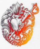 milagros белизна вала карандаша чертежа предпосылки реализм Графическое искусство Стоковые Изображения RF
