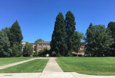 Milam Hall à l'université de l'Etat de l'Orégon Image stock