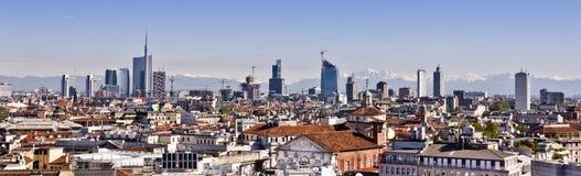 Milan 2012: ny horisont Royaltyfri Fotografi