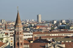 Milan. A shot taken from the top of Milan cathedral stock image