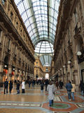 Milan. Exclusive shopping gallery with many elegant boutiques and fashion creator outlets in Milano, Lombardy, Italy Royalty Free Stock Photo